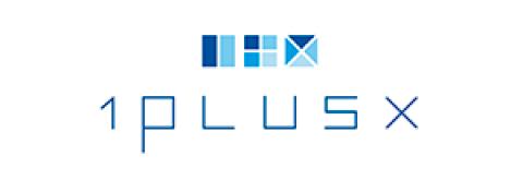 Company logo: 1plusx