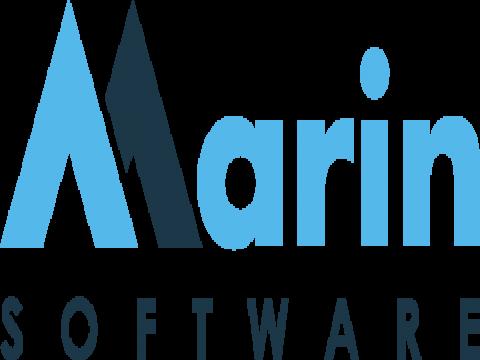 Company logo: marin software