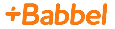 Company logo: babbel