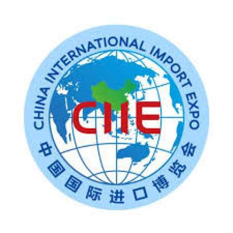 Company logo: china international import expo
