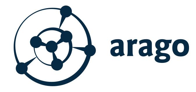 Company logo: arago