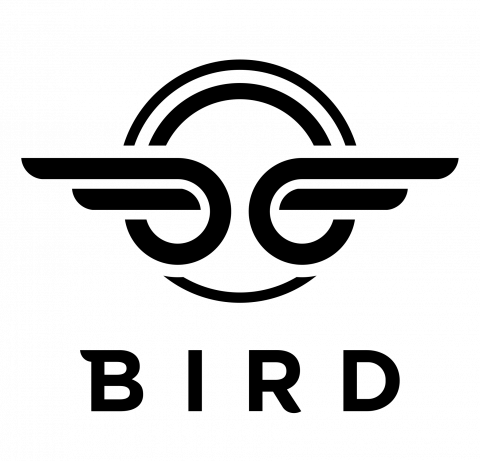 Company logo: bird