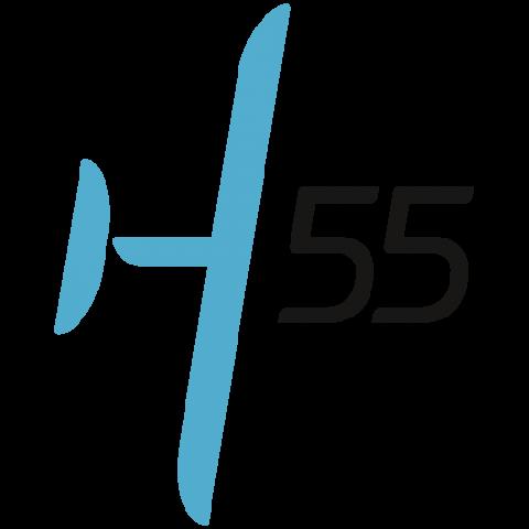 Company logo: h55
