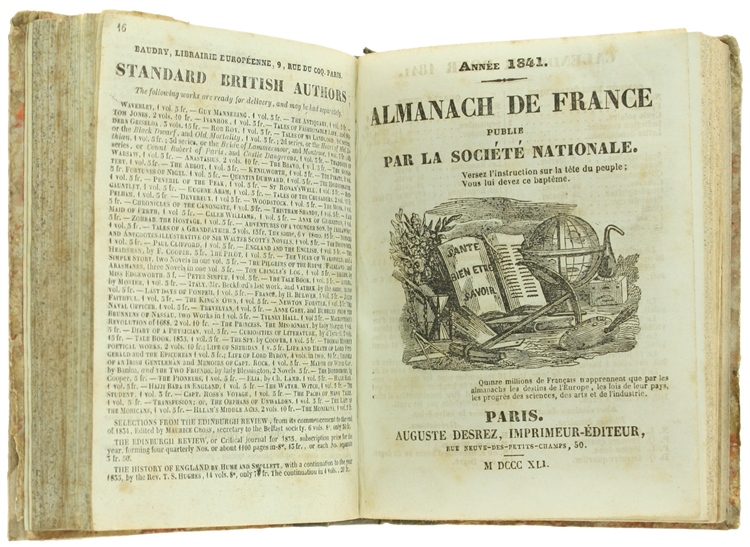 Almanach de france publie 39 par la societe 39 nationale ann e for Codice 1841