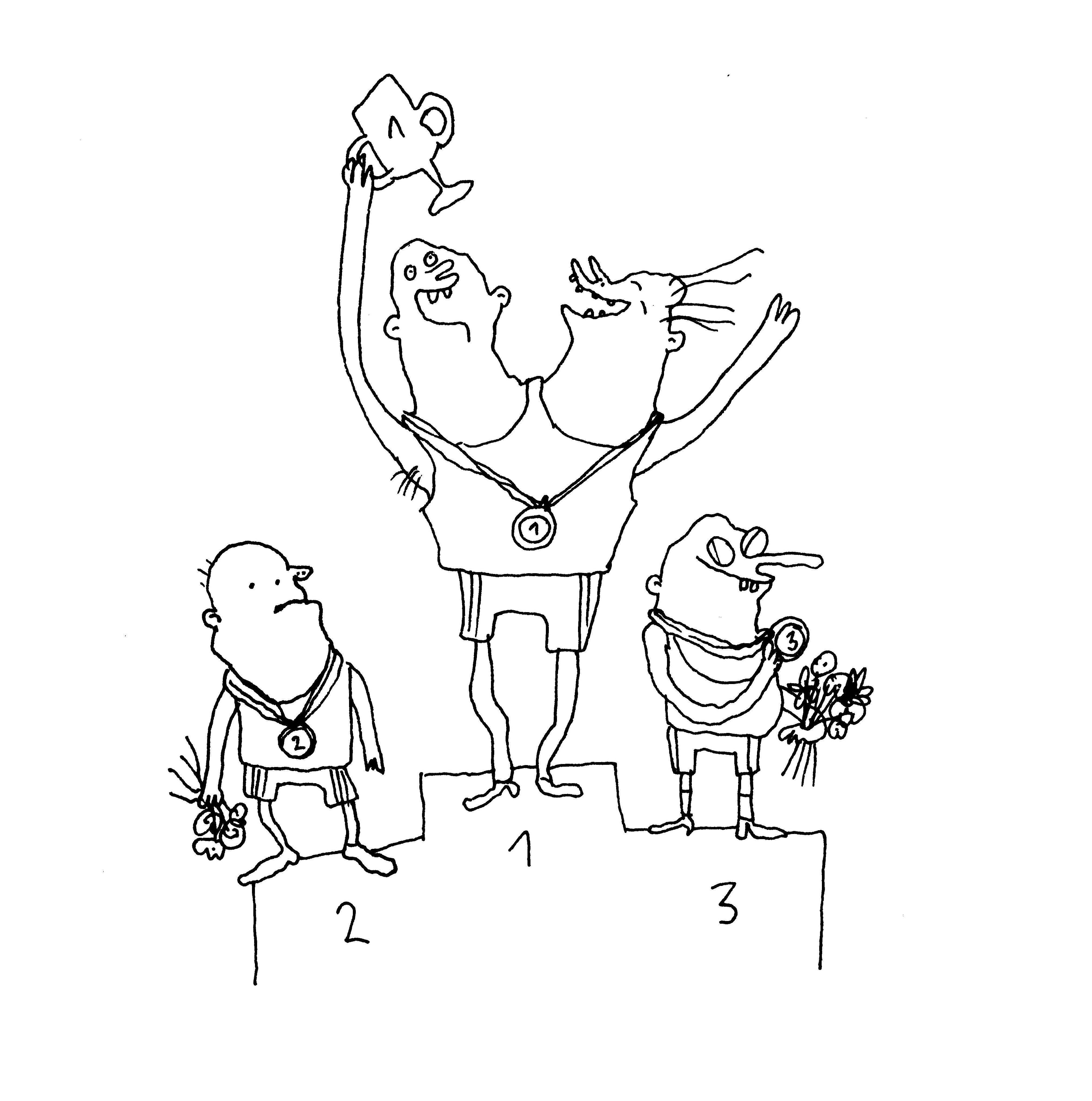 Figuren auf einem Podest