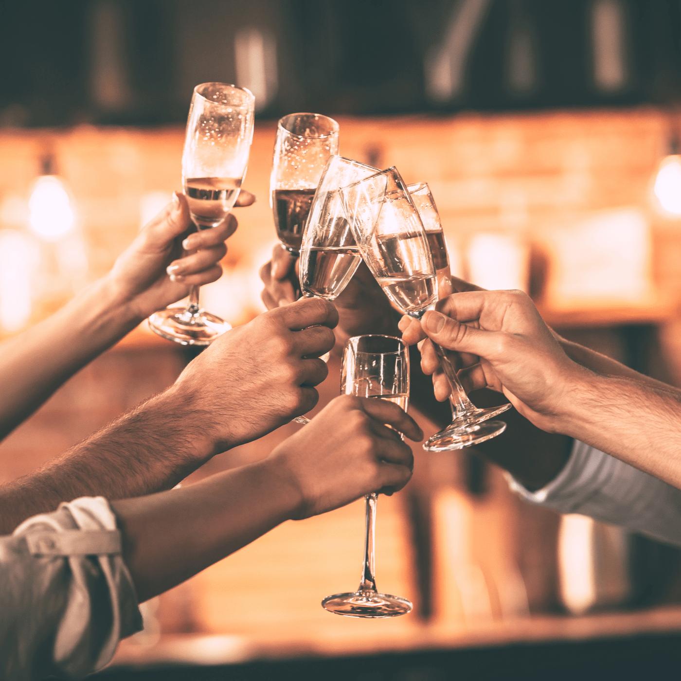 Champagne feest