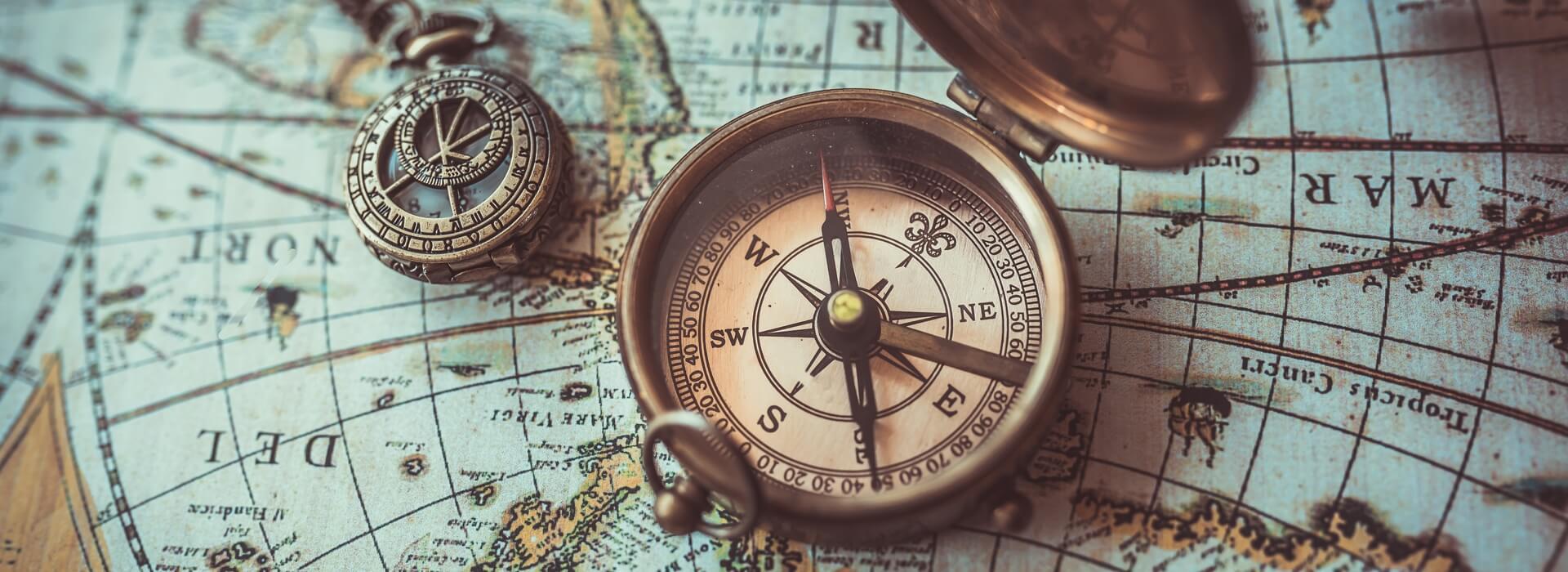 Kompas wereldkaart