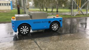 Delivery robot for industrial use,