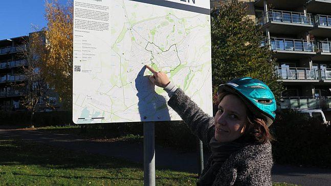 Sykkelturen starter på Ensjø ved skilt nr #3.