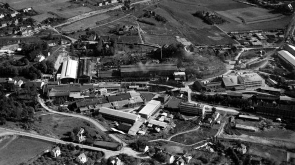 Flyfoto over Nydalen i 1948.