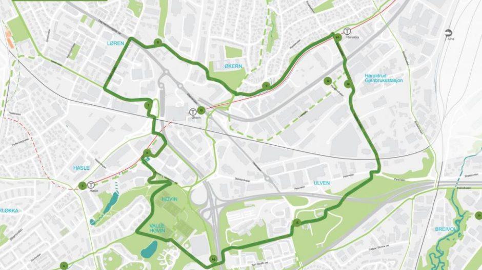 Kart over den grønne ringen.