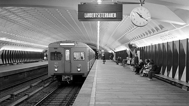 Lambertseterbanen er den eldste T-banestrekningen på østkanten av Oslo, den åpnet våren 1966, etter først å ha vært bybane siden 1957 (Foto: Leif Ornelund)