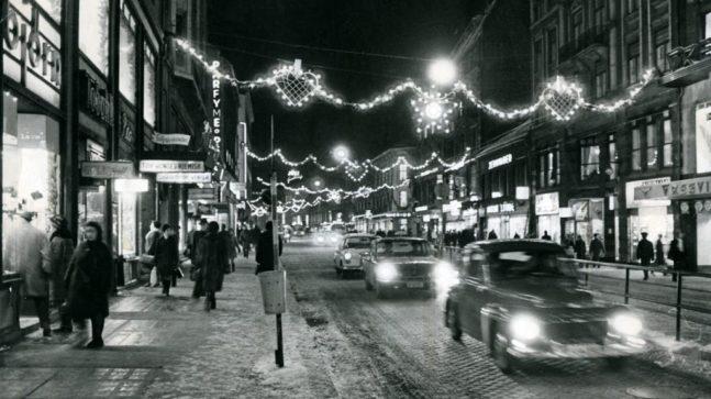 Storgata var lenge Oslos julegate nummer én, her fra 1969.