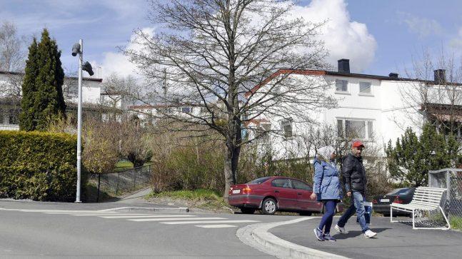 I krysset Rådyrveien-Veitvetveien vil fotoprosjektorer lage lysmønstre i gaten og oppfordre beboere til å stoppe opp.