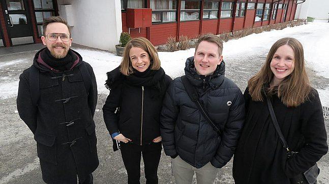 BYPLANLEGGERE: Byplanleggerne Fredrik W. Owesen (f.v.), Lisa Steine Nesse, Frank Båtbukt og Karen Rognstad.