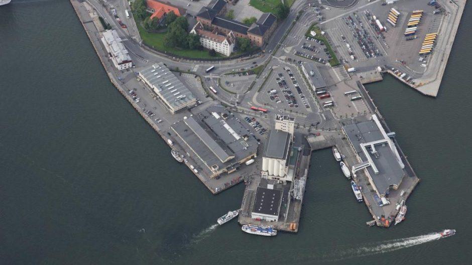 Flyfoto av Vippetangen sommeren 2014
