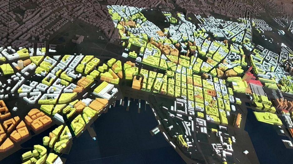 Modell som viser byggehøyder i Oslo