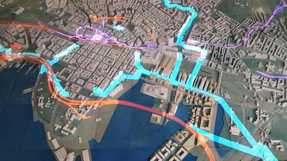 Modell som viser vann og avløp i Oslo
