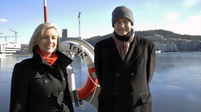 AKVA-PROSJEKTET: Marianne Kaperdal og Stein Kolstø i Plan- og bygningsetaten er helt i startfasen av et prosjekt som skal gi Oslo-folk mer sjø-, båt- og badeliv i sentrum av byen