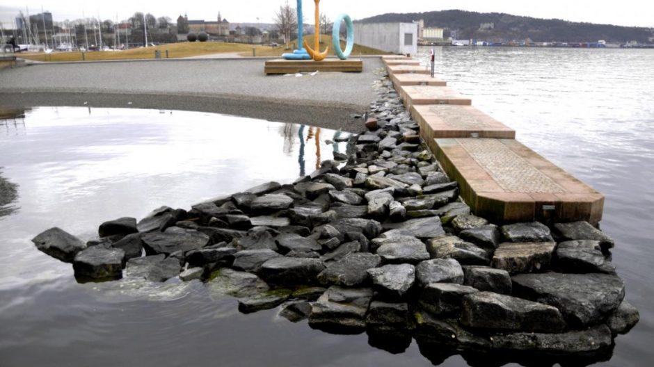 Urban strandliv: Oslofjorden er nå så ren at det går fint an å bade i sentrum.