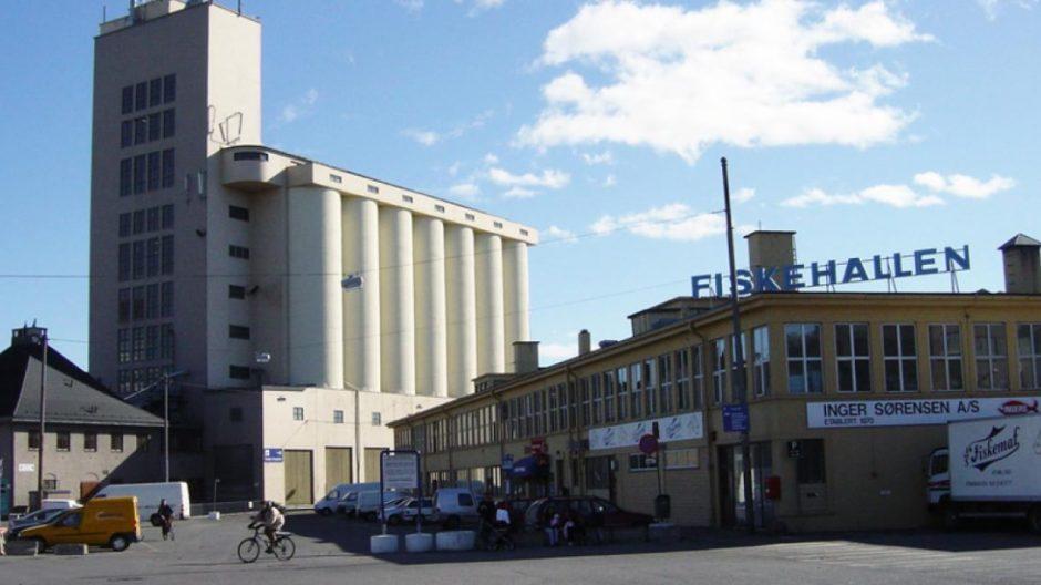 Fiskehallen og kornsiloen
