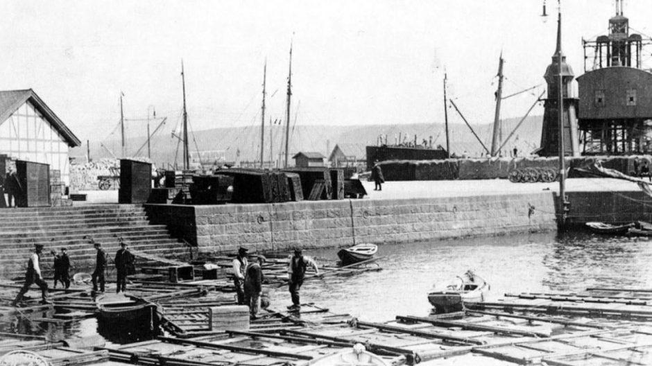 Fiskemarkedet på Vippetangen 1910