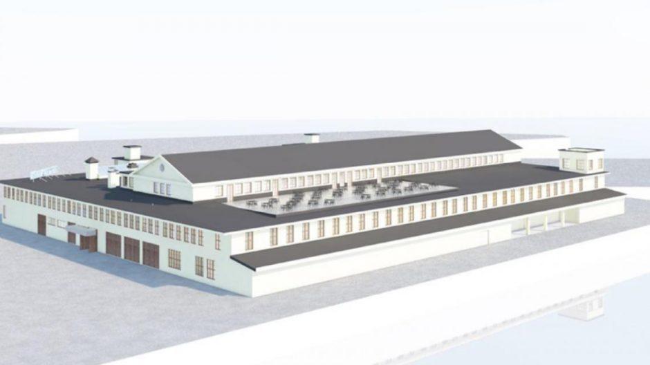 Slik ser forslaget til påbygg med restaurant og uteservering ut på Fiskehallen.
