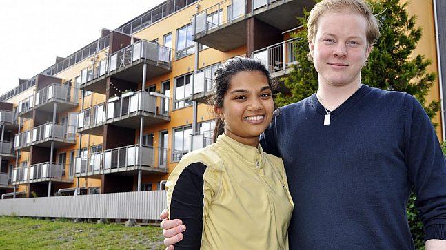 Trym og Henriette fra Nittedal har kjøpt sin aller første leilighet i Lunden Hageby på Vollebekk i Oslo og stortrives med kort reisevei til jobb og studiested.