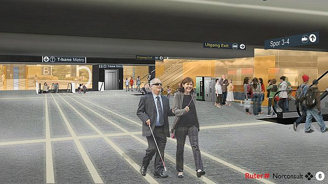 Skøyen stasjon er foreslått under Hoffsveien, parallelt med jernbanestasjonen. Dette blir et kompakt og effektivt kollektivknutepunkt, med kort vei mellom tog, T-bane, buss og trikk