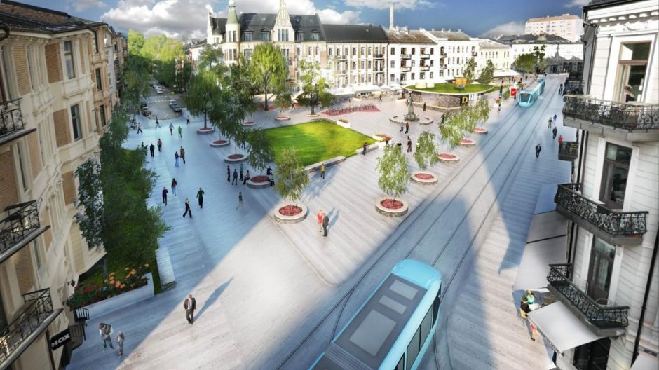 Ruter og Plan- og bygningsetaten fremmer ulike planalternativer for adkomst til stasjonen ved Valkyrie plass.