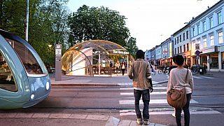 Denne illustrasjonen viser forslag til ny T-banestasjon på Olaf Ryes plass, men er ikke en stasjon som ruter foreslår.