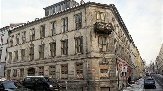 Wessels gate 15 i Oslo før bygget ble flyttet til Norsk folkemuseum