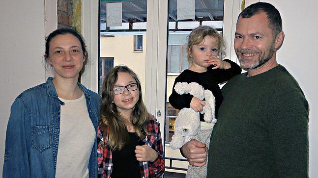 Torbjørn Stray Pedersen med familie