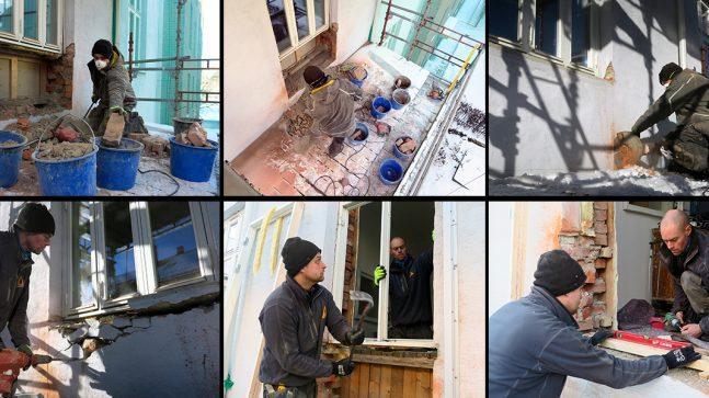 Fotomontasje - balkongmontering