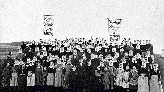 Da fyrstikkpakkerskene ved Nitedals Tændstikfabrik på Helsfyr streiket i 1889 var det Norges aller første streik.