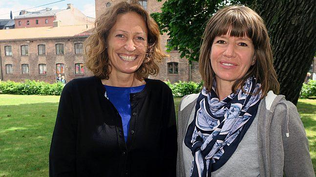 Tone Marlen Flø (tv.) og Lena Nesset, hhv. seksjonsleder for forvaltningsseksjonen og kommunikasjonssjef i Eiendoms- og byfornyelsesetaten.