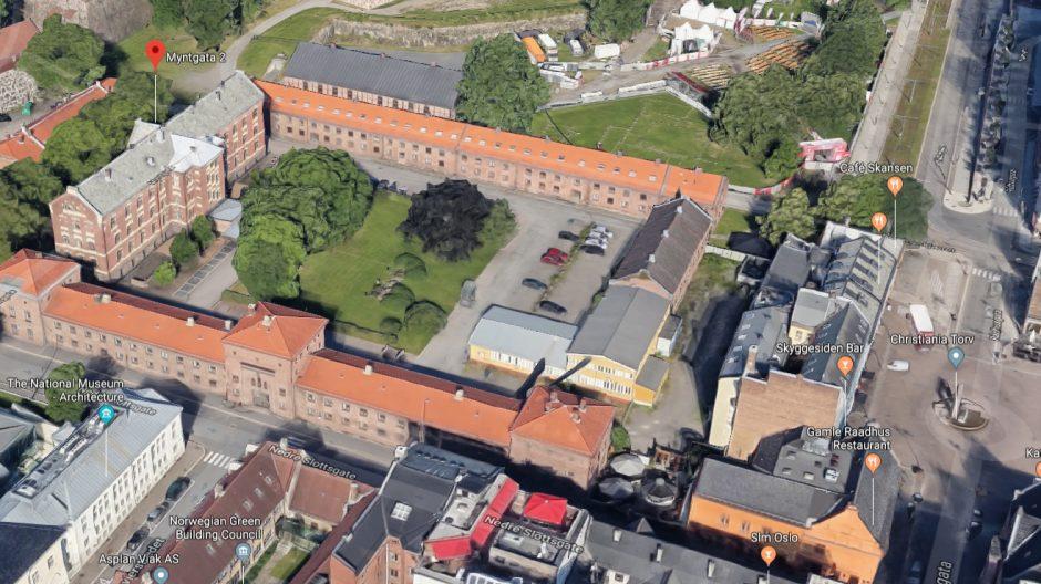 Myntgata 2 i Google maps