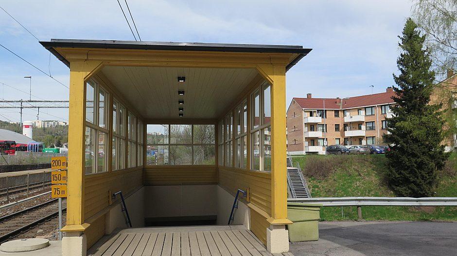 Nedgangen fra Grorud stasjon