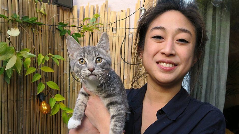 - Bofellesskap er en veldig god løsning for mennesker i byen hvor man bor stadig tettere, mener Thao Nguyen, som bor sammen med katten Kristian i Friis' gate 6.