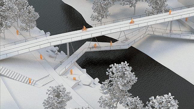 Modell av bro