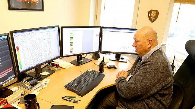 Arne-Erik Bakke i AMK (Akuttmedisinsk operasjonssentral)