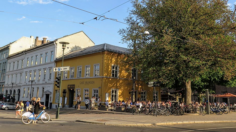 Byliv på Christiania torv.