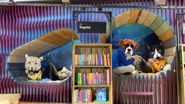 Biblioteksarkitekten Aat Vos lyttet til kidsas ønsker og har skapt et fantastisk innendørs landskap med huler og andre fine steder hvor de kan stikke seg bort og chille.