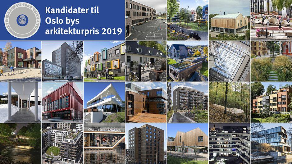 Oslo bys arkitekturpris 2019 Mosaikk alle kandidater Byplan Oslo