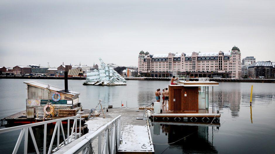 To badstuer Oslofjorden