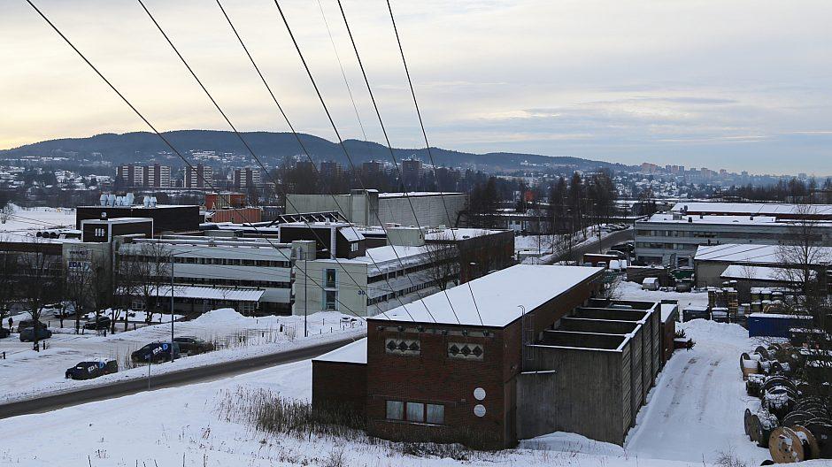 Rommen modell 2019: Høyspentledninger, lager- og næringsbygg. Men om noen år kan boliger og byrom dominere området.