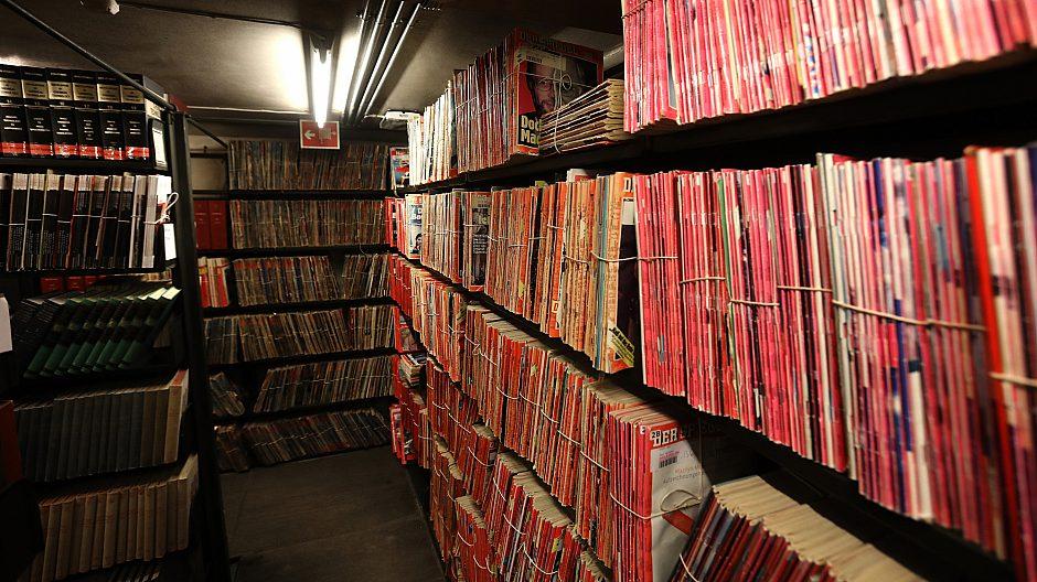 Deichmans «indre». Velfylte magasiner legger beslag på store deler av byggets i alt 12.500 kvadratmeter. Her har publikum ikke adgang.