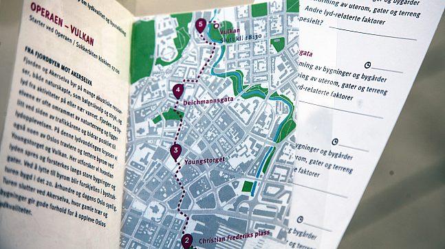 Lydvandring - kart