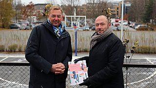 Arne Baumann i Obos og Andreas Vaa Bermann i PBE