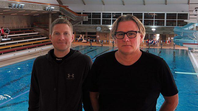 – Når det nye Tøyenbadet åpner i 2023 vil byen få et topp moderne og helt nytt badeanlegg med tilbud som burde tilfredsstille mange behov, mener Martin Sletten Løvik (t.v.) og Øyvind Lunde-Bergersen.